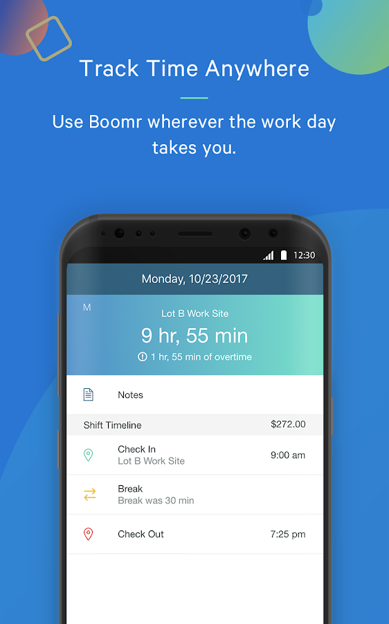 Boomr - Employee Time Clock- screenshot
