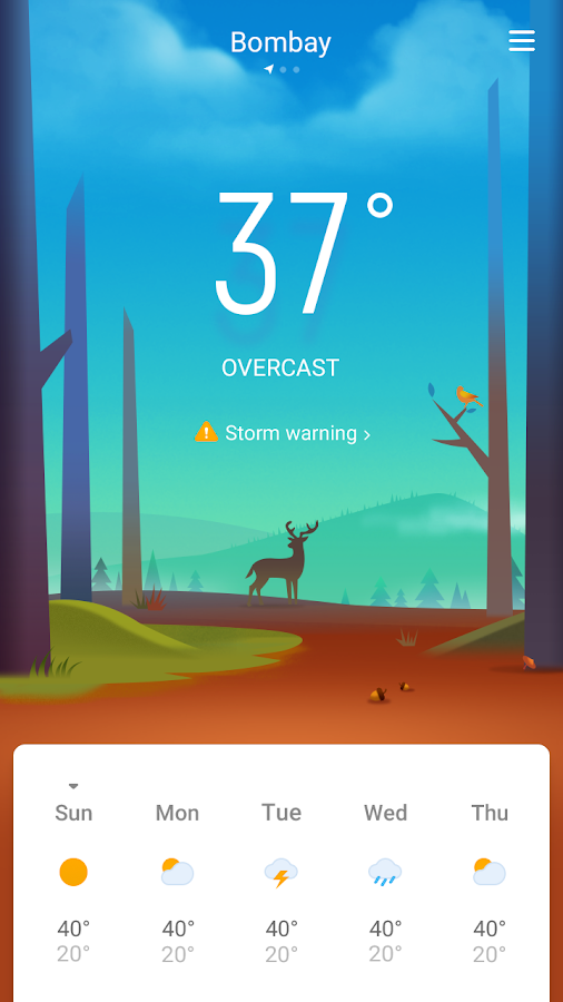 Fun Weather - Accurate Forecast, Severe Alert- screenshot