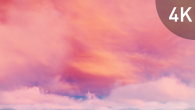 White Pink Cirrus Clouds on Violet Sky - 10