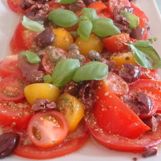Three Tomato Salad with Capers and Olives