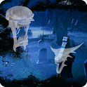 Ghost Halloween Cemetery Full icon