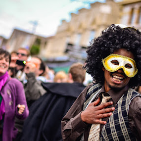 Newtown Masquerade  by Graeme Carlisle - News & Events World Events ( dancing, mask, festival )
