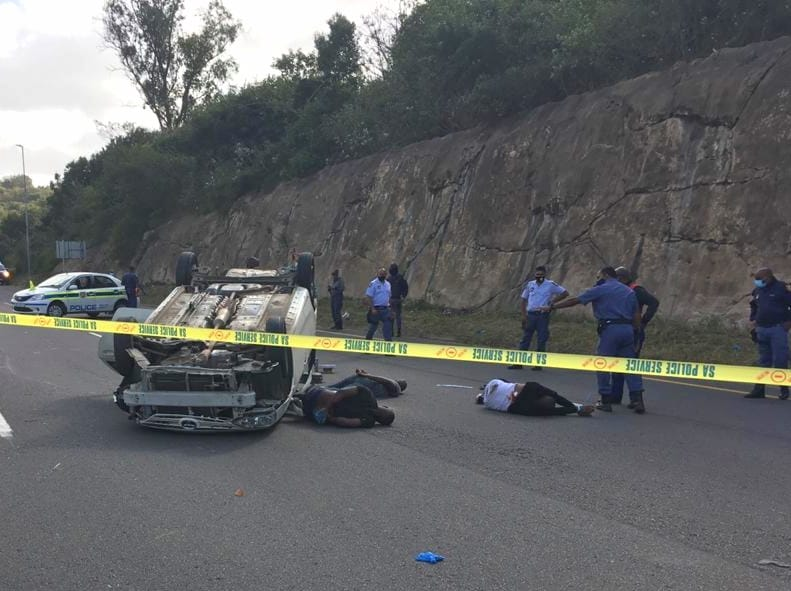 Alleged house robbers arrested on Durban highway after shoot-out with police