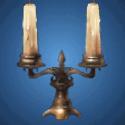 古廟の燭台