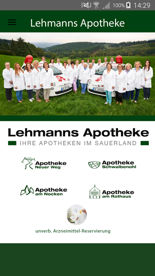 Lehmanns Apotheken – Screenshot