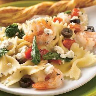 Mediterranean Pasta with Shrimp.