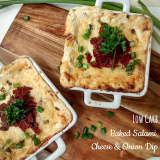 Baked Salami, Cheese & Onion Dip