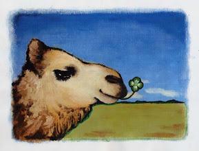 Photo: camel / canvas, acryl, 2005