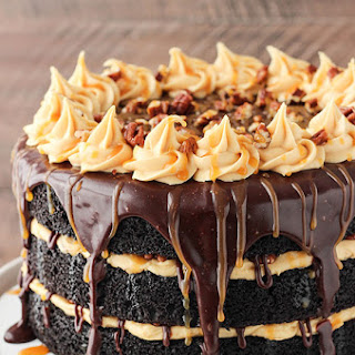 Turtle Chocolate Layer Cake.