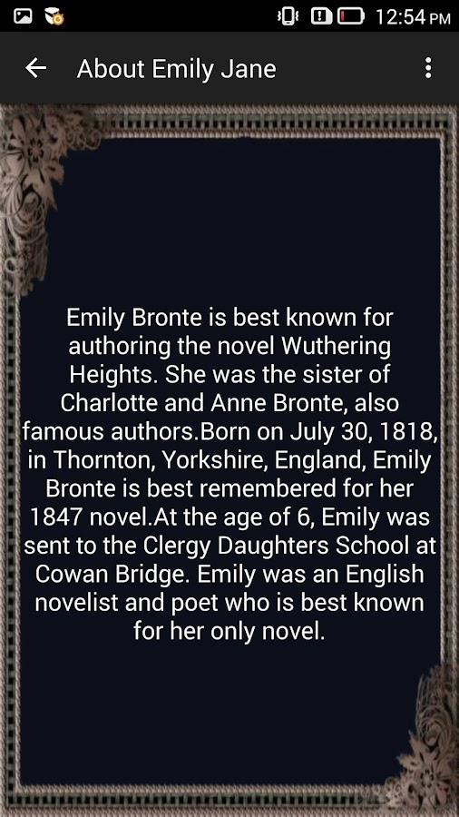 an introduction to the life and literature by emily bronte Discover books by charlotte bronte, including jane eyre and villette, with resources to help teach british literature.