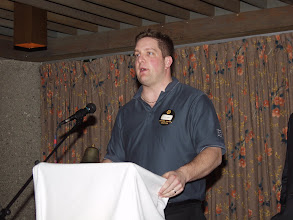Photo: Pat Albert of Breck-mar discussed the upcoming May 11th Variable Speed Drive seminar at Travelodge