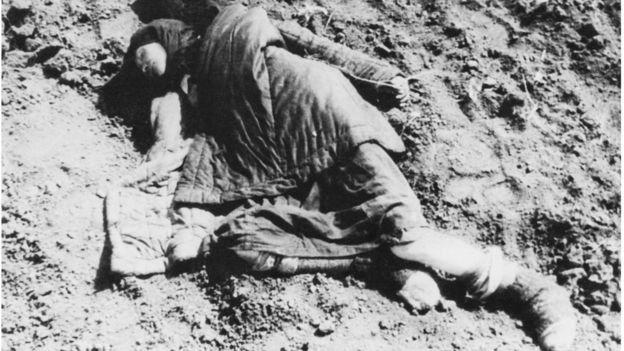 Фото умерших от голода в Украине