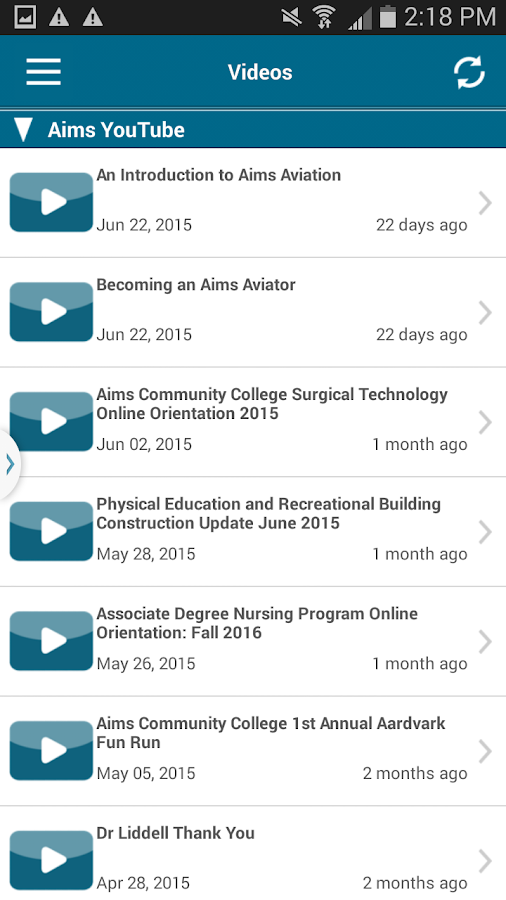 Aims Community College- screenshot