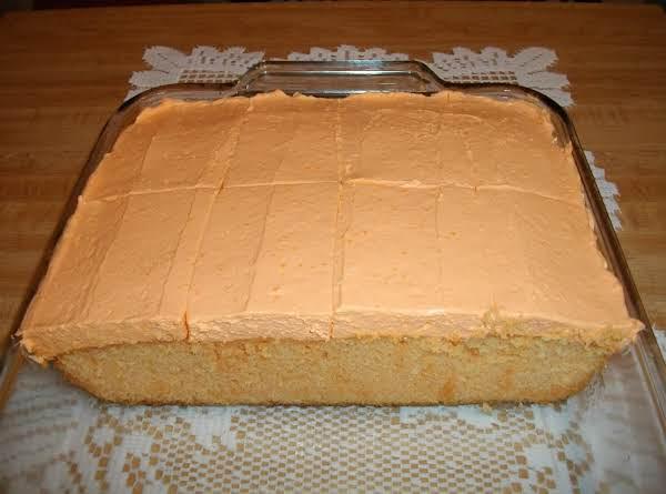 Creamsicle Jell-o Cake