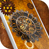 Steampunk Clock Live Wallpaper