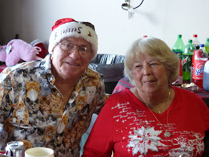 Photo: Ginger and her brother Pete at Christmas Dinner