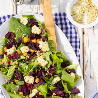 Roasted Beet Salad with Hemp Heart Crusted Goat Cheese Recipe