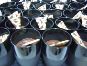 Photo: verrine de chocolat crémeux