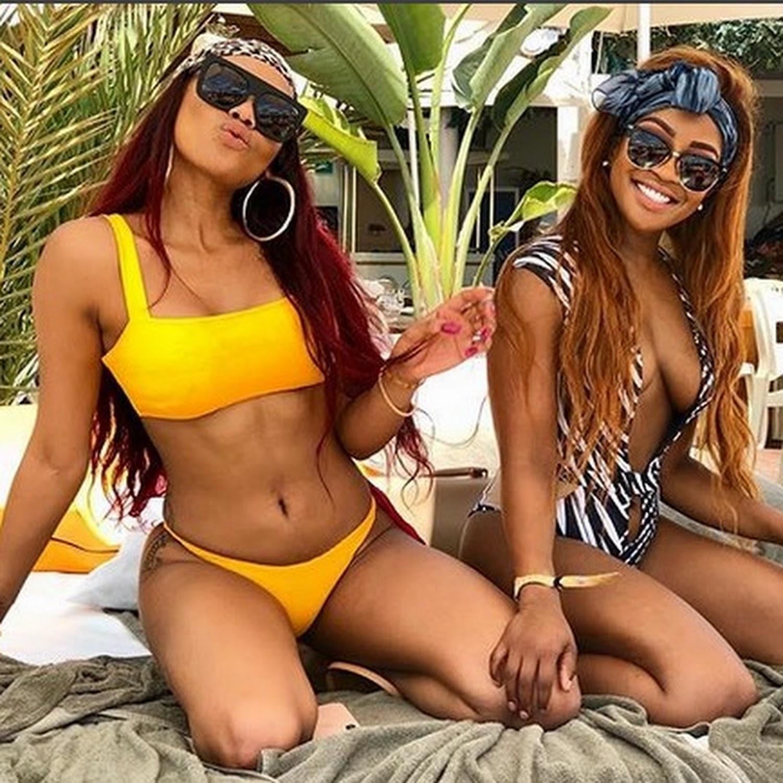 BFFs Bonang and Lorna Maseko are bikini babes in Ibiza
