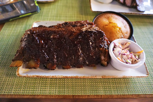 28.jpg - Half a rack of ribs from the Rooftop Garden Grill. Yummy!