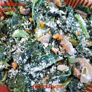 Tuscan Kale with Mushrooms and Garlic {Cavolo Nero con Funghi e Aglio.