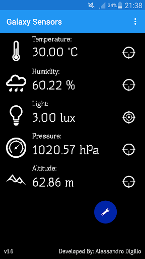 Galaxy Sensors 1.8.5 screenshots 1