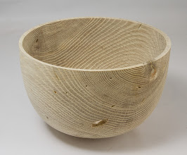"Photo: Gary Guenther 7 1/2"" x 5"" bleached bowl [red oak]"