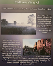 Photo: Native American quotes in the national monument.
