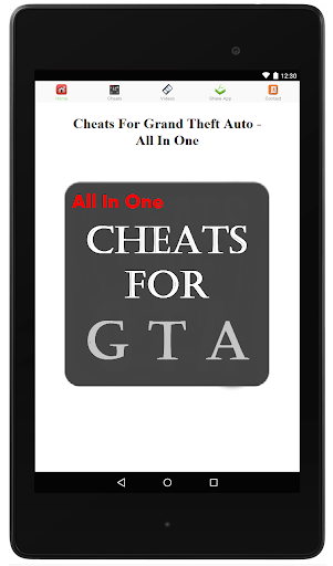 Cheats For GTA - All in One
