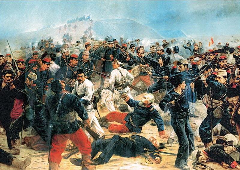 Сражение между чилийскими и перуанскими войсками - Футбол и другие странные дела | Warspot.ru
