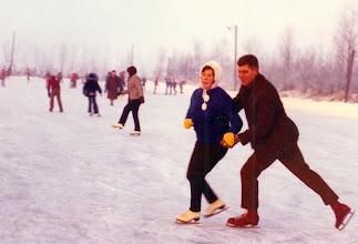 Photo: Bets den Adel en Gerrit v/d Giessen 1985