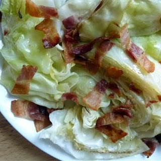 Bacon-Roasted Cabbage Wedges.