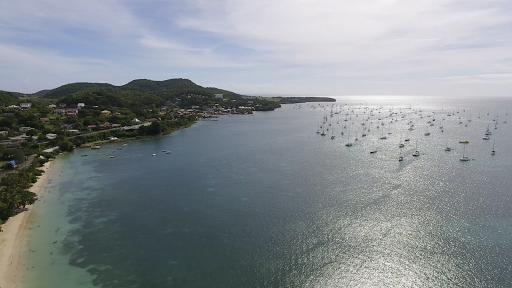le-marin-drone-footage2.png - Drone footage of Le Marin marina in Martinique taken during a sailing on Silver Spirit.