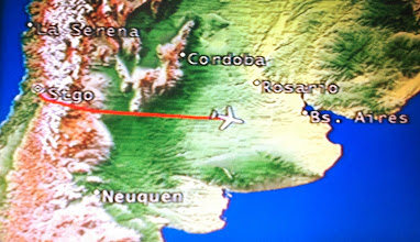 Photo: Lima-Santiago-Buenos Aires flight today on LAN Airlines.