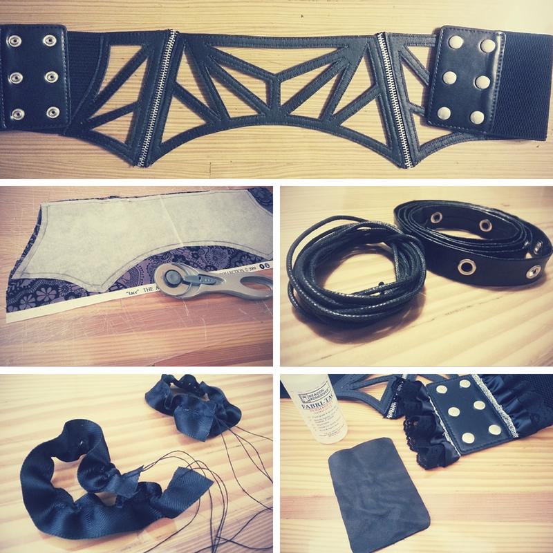 Materials: Waist Corset Belt Refashion - DIY Fashion Accessories   fafafoom.com