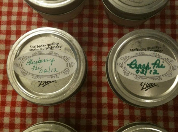 ** IF you are going to freeze the PIEJARS for later use, do not...