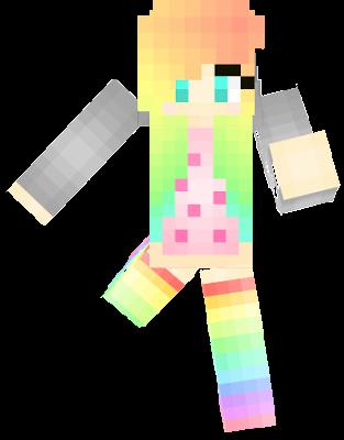 rainbow nyan cat girl