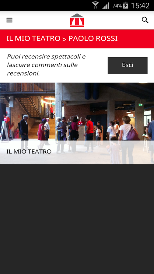 Teatro Franco Parenti- screenshot