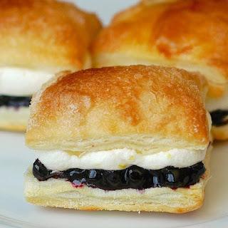 Blueberry Lemon Mini Puff Pastries
