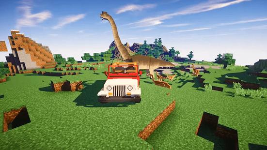 Jurassic craft park for Minecraft PE - náhled
