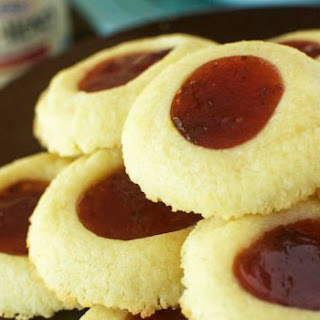 Fruit Spread Thumbprint Cookies.