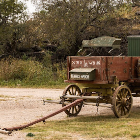 Original chuck wagon from the 1900's by Angie Birmingham - Transportation Other ( cowboy, old car, wagon wheel, wagon, historical )