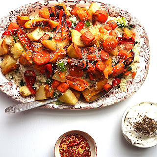 Moroccan Roasted Vegetables With Toasted Sesame.