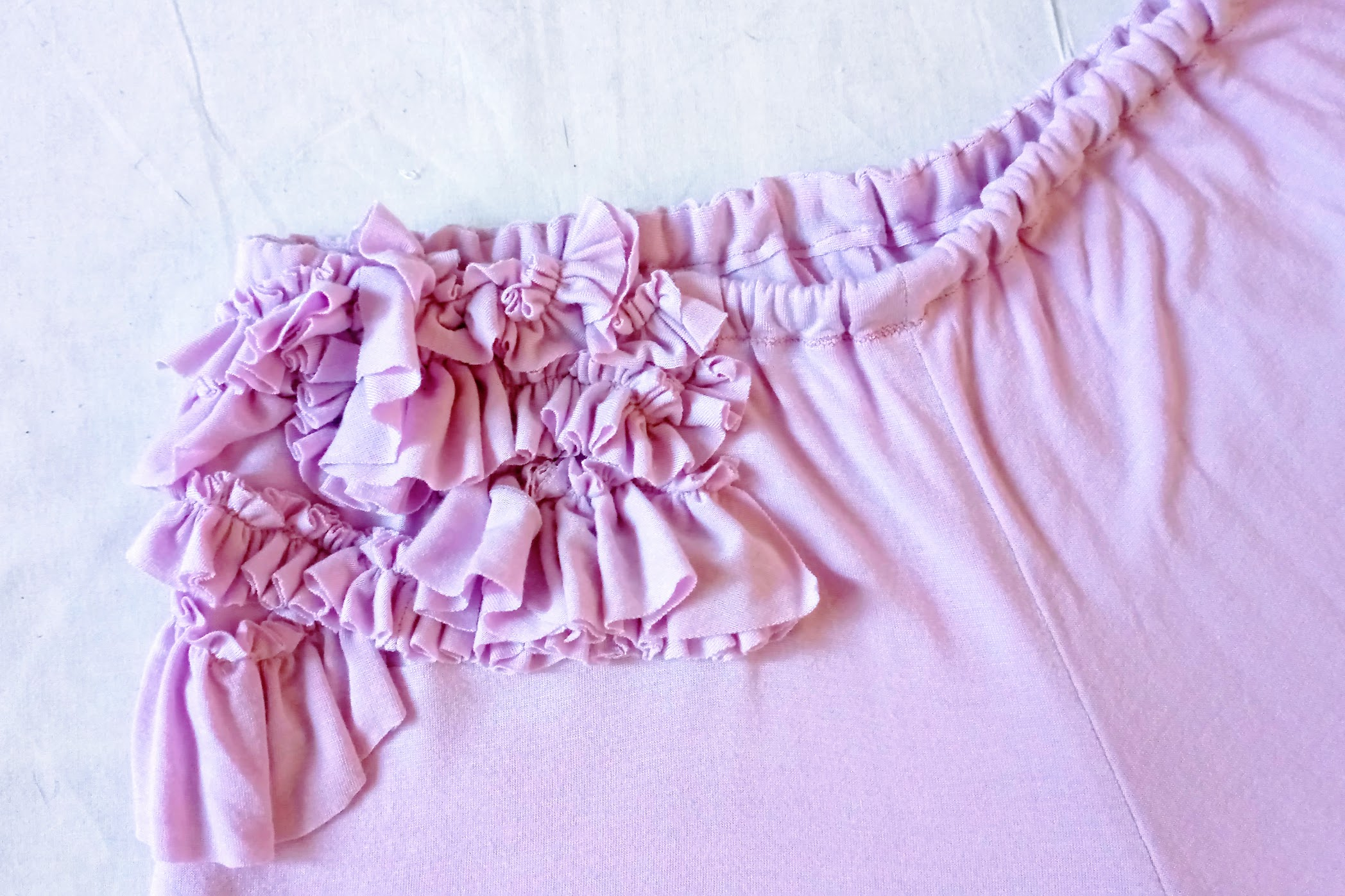 In-Progress: DIY Pink Ruffled Sleepwear Set - DIY Fashion Garments | fafafoom.com