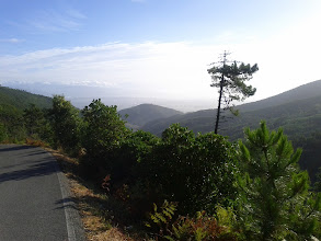 Photo: Going back down the road from Monte Serra, looking north-east.