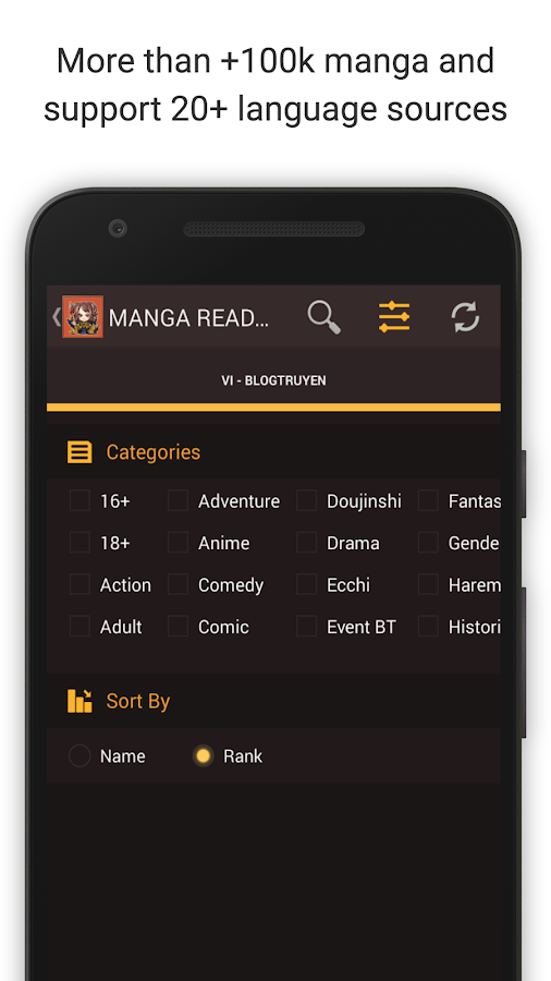 Mangaa Reader- screenshot