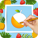 Fruits Drawing Book & Coloring Book : Kids Zone icon