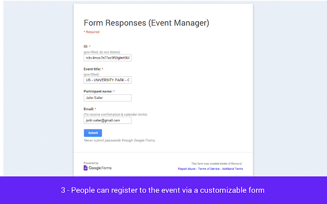 event manager g suite marketplace