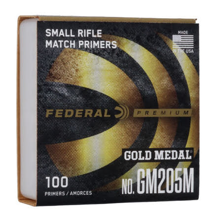 Federal Primers Small Rifle Gold Medal Match No 205
