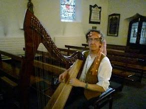 Photo: Harpist Harry Carpendale
